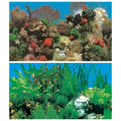 Задний фон для аквариума высотой: 40 см.
