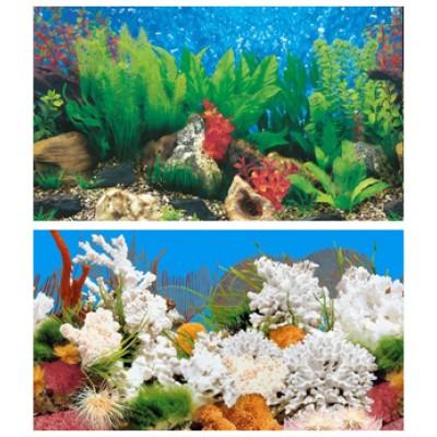 Задний фон для аквариума высотой: 60 см.