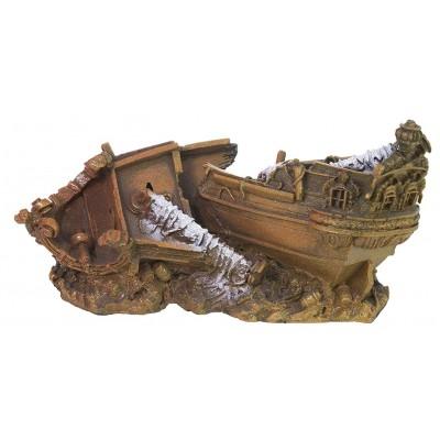 Декорация для аквариума Обломки корабля